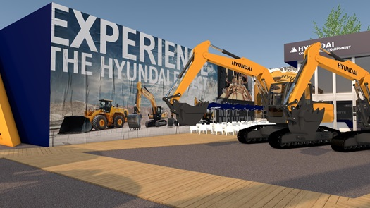 Hyundai Construction Equipment booth rendering for Bauma 2019