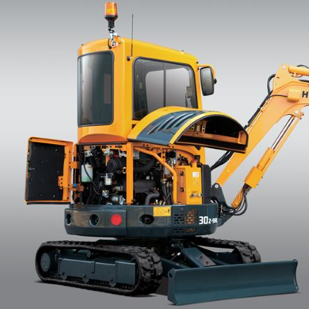 Whit Hyundai compact excavators, you'll find it easy to make maintenance part of your routine.