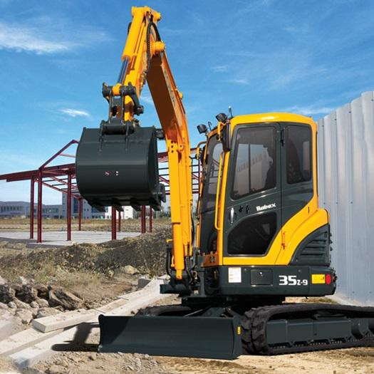 R35Z-9 compact (mini) excavator | Hyundai Construction