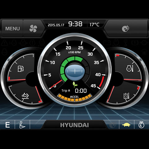 The ECO Gauge gives you instant fuel efficiency feedback as you work.