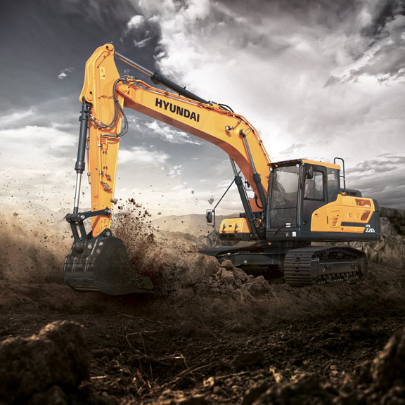 Hyundai HX220L Crawler Excavator   Hyundai Construction